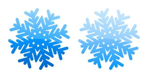 Blue glossy snowflakes. Set of the two blue glossy snowflakes Royalty Free Stock Photo