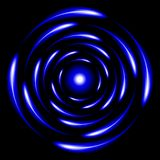 Blue Glossy Sphere. Abstract Background Stock Image