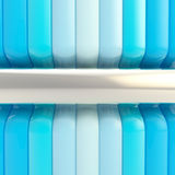 Blue glossy stripes abstract background Stock Photo