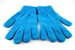 Blue gloves Royalty Free Stock Images