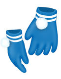 Blue gloves Stock Images