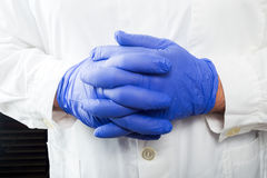 Blue gloves Royalty Free Stock Photography