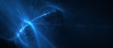 Blue glow energy wave. Stock Photography