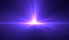 Blue glow light effect. Star burst Stock Images