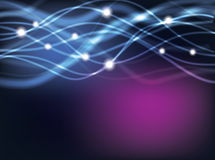 Blue Glowing Abstract Lines background Stock Image