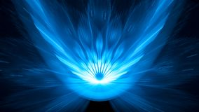 Blue glowing asteroid impact 8k background abstract background royalty free illustration