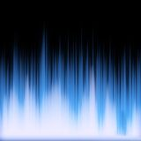 Blue Glowing Audio Waveform Royalty Free Stock Photos