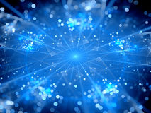 Blue glowing big data hubs Stock Photography