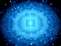 Blue glowing big data in space with particles Royalty Free Stock Images