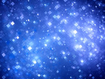 Blue glowing big data squares fractal background Royalty Free Stock Photo