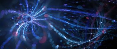 Blue glowing connected big data royalty free stock photo