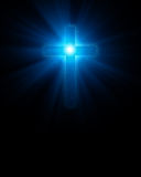 Blue glowing cross Royalty Free Stock Image