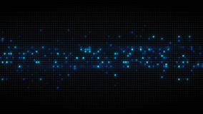 Blue glowing cubes on black tiles abstract background. Blue glowing cubes on black tiles. Computer generated abstract background vector illustration