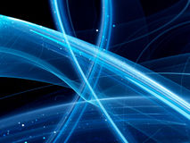 Blue glowing curves Royalty Free Stock Photos