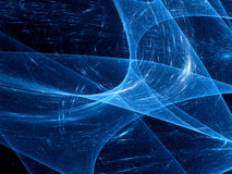 Blue glowing curves in space Stock Photography