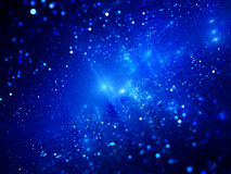 Blue glowing deep space fractal Royalty Free Stock Photography
