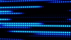 Blue glowing digital dots loop motion background royalty free illustration
