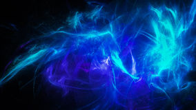 Blue glowing energy with flashes Stock Images