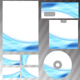 Blue glowing energy swoosh wave style mock-up Stock Images