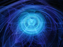 Blue glowing force fields in space Royalty Free Stock Photo