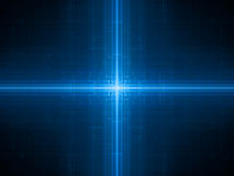 Blue glowing futuristic hardware Stock Images