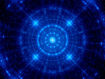 Blue glowing futuristic technology fractal Royalty Free Stock Photo