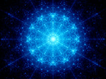 Blue glowing galactic clock. In space, computer generated abstract background Royalty Free Stock Image