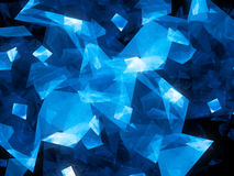 Blue glowing geometric shapes abstract background Royalty Free Stock Image