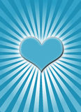 Blue glowing heart Stock Photos