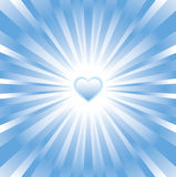 Blue glowing heart background. Blue background for your design(cmyk vector illustration