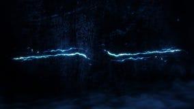 Blue Glowing Lightning Thunderbolt Intro Logo Motion Background