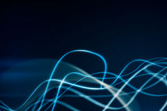 Blue glowing lines background. Abstract blue glowing lines background. Decoration concept. 3D Rendering Royalty Free Stock Image