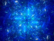 Blue glowing lines in space fractal Royalty Free Stock Photo