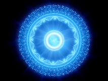 Blue glowing magical stargate Royalty Free Stock Photo