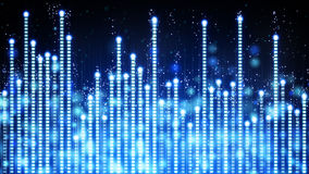 Blue glowing musical equalizer Royalty Free Stock Images