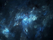 Blue glowing nebula in deep space Royalty Free Stock Images