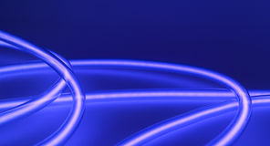 Blue glowing neons conception Royalty Free Stock Images