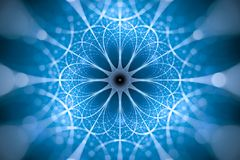 Blue glowing network fractal concept royalty free stock photography