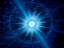 Blue glowing neutron star in space Royalty Free Stock Images
