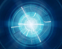 Blue glowing new disc shape technology Royalty Free Stock Photo