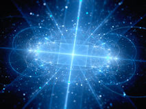 Blue glowing new hardware technology in space Royalty Free Stock Images
