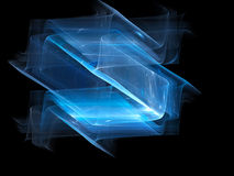 Blue glowing new space technology surfaces Stock Photos