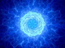 Blue glowing plmasa torus in space Stock Photography