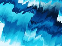 Blue glowing rippled wavy abstract background royalty free stock image