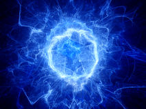 Blue glowing round shape energy field Royalty Free Stock Photo