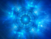 Blue glowing space object genesis Stock Photo