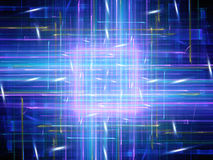 Blue glowing square with lines Royalty Free Stock Photo