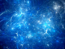 Blue glowing synapses background Stock Photos