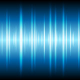 Blue glowing tech waveform equalizer background Stock Photo