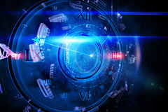Blue glowing technology design Royalty Free Stock Image